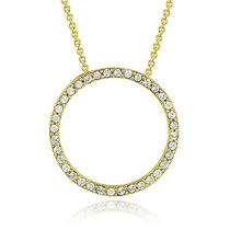 Gold Tone Swarovski Elements Eternity Necklace Photo