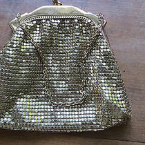 Gold Tone Whiting and Davis Purse Evening Bag Mesh Jeweled Lined Photo