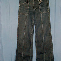 Goldsign Jeans Sz 29 Straight Leg Stretch Gold Sign Juniors Denim Euc Women's  Photo