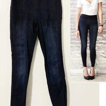 Goldsign Jem Jeggings Elastic Waist Blue Jean Denim  Leggings Jeans 27 Photo