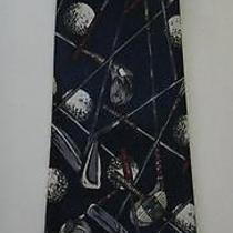 Golf Club & Balls Necktie