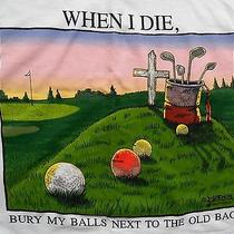 Golf T Shirt Mens Large
