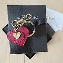 Good Price Yves Saint Laurent Small and Big Red Heart Key Ring / Bag Charm  Photo