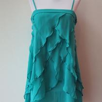 Gorgeous Aqua Chiffon Tiered Dress - Sz L Photo
