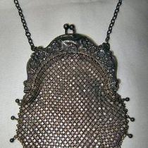 Gorgeous Art Nouveau Whiting & Davis Sterling Chatelaine Mesh Purse Photo