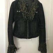 Gorgeous   Authentic Bebe Jeans Jacket Size M/m/mediana Photo
