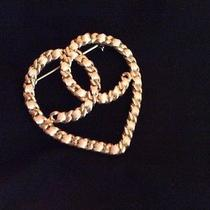 Gorgeous Authentic Chanel Heart Pin Photo