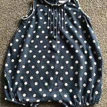 Gorgeous Baby Girls Blue Denim Look White Polka Dot Romper Age 3-6 Months Vgc Photo