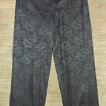 Gorgeous Black Lace Fancy Dress Slacks Fully Lined Norton Mcnaughton Sz 12 Photo