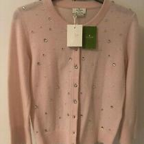 Gorgeous Bnwt Kate Spade Night Sky Wool Cardigan Pink Blush New Rrp 245 Photo
