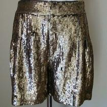 Gorgeous Brand New Gryphon New York Gold Sequin Dress Shorts Sz Sm Photo