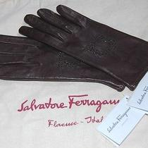 Gorgeous Brown Leather Gloves - Soft as Butter - Ferragamo New With Tags 7 Photo
