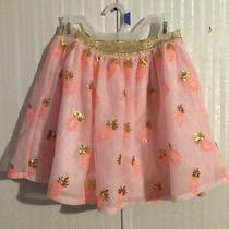 Gorgeous Cat and Jack Girls Blush Peach Tulle Skirt Size 12 Pineapple Photo