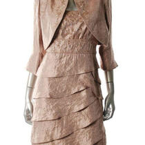Gorgeous & Chic Blush Embellished Cocktail Suit Dress (Sz 10) Photo
