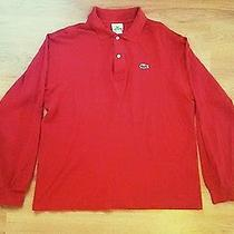 Gorgeous Classic Fit Lacoste L1212 Red Sz 5  Medium Mother of Pearl Buttons Photo
