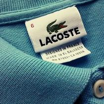 Gorgeous Classic Fit Lacoste L1212 Teal Sz 6  Large Mother of Pearl Buttons Photo