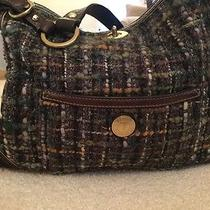 Gorgeous Coach Brown Tweed Leather & Suede Purse Photo