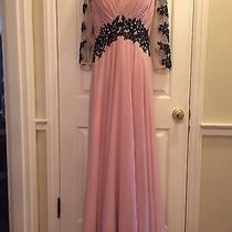 Gorgeous Custom Mother of Bride Groom Ball Gown Blush Pink Dress 3/4 Sleeves 12 Photo
