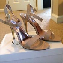 Gorgeous Disco Steve Madden Ankle Strap Patent Leather Sandals Nude/blush 8.5 Photo