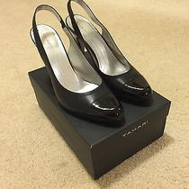 Gorgeous Elie Tahari Size 10m Womens Black Leather Pumps Shoes Like New Photo