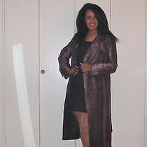 Gorgeous Escada 32 Fits Like 34 Silk Long Coat in Excellent Condition Photo