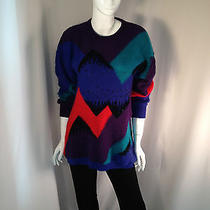 Gorgeous Escada Multi Color Beaded Pullover Ribbed Sweater -Fun  Photo