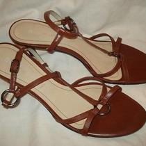 Gorgeous Etienne Aigner Strappy Cognac Tan Leather Sandals / Heels Sz 10 Photo