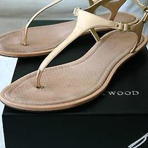 Gorgeous Euc Authent. B Brian Atwood Blush Pink Patent Thong Sandals 8 M Run Big Photo