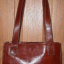 Gorgeous Fossil Vintage Rustic Cognac Brown Leather Shoulder Bag Purse Photo