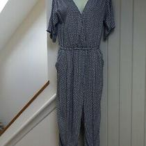 Gorgeous h&m Geometric Print Jumpsuit...size 10...next Day Postage Photo