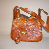 Gorgeous Hand Tooled  Leather Cowgirl Riding Shoulder Handbag  Photo