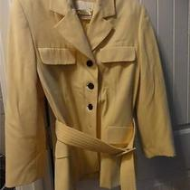 Gorgeous High End Designer Escada Size 38 Yellow Lined Wool Blazer Jacket Photo