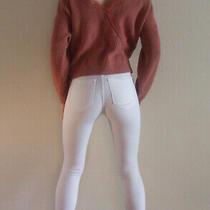 Gorgeous Hollister Blush Ribbed Knit Crop Cross Back Sweater Jumper M Uk 8 10 Photo