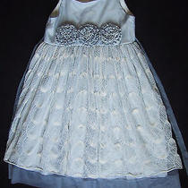 Gorgeous Isobella & Chloe Light Blue Tulle Floral Pageant Party Dress Size 14 Photo