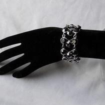 Gorgeous Jet Swarovski Crystal Bracelet Bridesmaids Bracelet B719a Photo