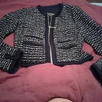 Gorgeous Juicy Couture Black Label Black Tweed and  Mettallblazer/jacket. Sz. Xs Photo