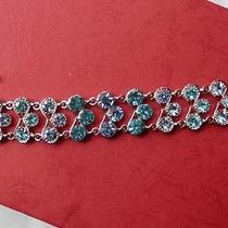 Gorgeous Light Sapphire Swarovski Crystal Bracelet Bridesmaids Bracelet B719c Photo