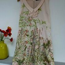 Gorgeous Oasis Peach Blush Floral Sleeveless S/s Midi Dress Size 12/14 Bnwot Photo