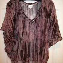 Gorgeous Parker Printed Flowy Dolman Sleeve Top Sz Xs Photo