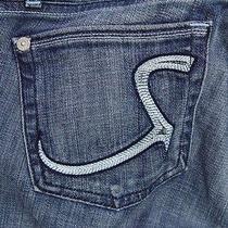 Gorgeous rock&republic Maternity Jeans Radial Blue Size 30 34 Adjustable Waist  Photo