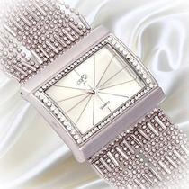 Gorgeous Shining Women Lady Wrist Watch Bracelet Bangle Diamante Crystal Quartz Photo