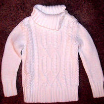 Gorgeous Sparkle Creme  Old Navy Cable Knit Sweater-New- 5t Photo