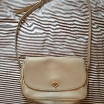 Gorgeous  Vintage Coach Off White Leather Shoulder Bag Euc Photo