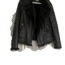 Gorgeous Wallis Black Faux Fur Trim Jacket Size 12 Excellent Condition Photo