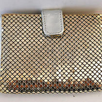 Gorgeous Whiting & Davis Vintage Card/picture Wallet in Metal Mesh Silver Color Photo