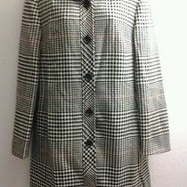 Gorgeous Wool Talbot Multicolor Plaid Button Front Long Coat Women's 10 Usa Photo