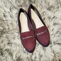 Gorgeous Work Shoes Aldo Burgundy Loafer Pointed Flats Sz. 6.5 Photo