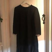 Gorgeous Zara Lbd Black Dress Gold Chain Detail Coco Style Great Cond M/36/10 Photo