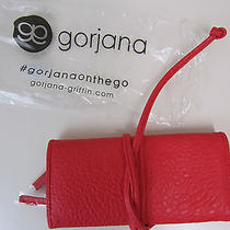Gorjana Jewelry Pouch Gorjana on the Go Faux Red Leather Photo