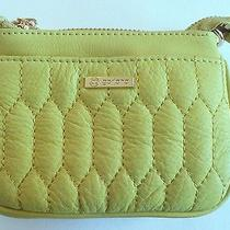 Gorjana Ludlow Crossbody Bag Clutch Celery Gold Leather Removable Chain Link Nwt Photo